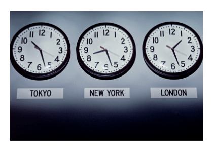 tokyo, new york, and london timezone clocks