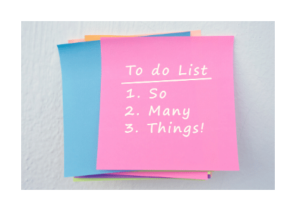 to do list with three tasks