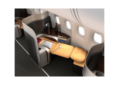 first-class suite on an airline
