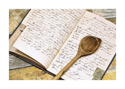 handwritten cookbook